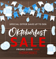 beautiful background for oktoberfest sale vector image vector image
