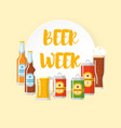 beer festival flat poster vector image