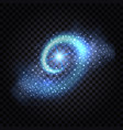 blue magic light swirl abstract glowing spiral vector image