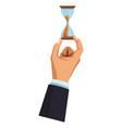 businessman hand with hourglass vector image