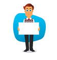 Businessman with white paper vector image