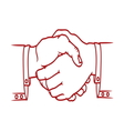 Bussines handshake4 resize vector image