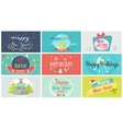 Celebrating Winter Holidays Flat Concepts vector image