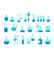 chemistry science icon set education lab vector image