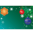 christmas card with clock vector image vector image