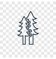 christmas trees concept linear icon isolated on vector image vector image