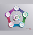 circle elements for infographic template vector image vector image