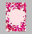 Color abstract random heart brochure template