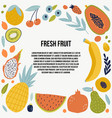 colorful food set for your design vector image vector image