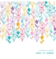 Colorful Tulip Flowers Horizontal Frame vector image vector image