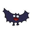 comic cartoon bat vector image vector image