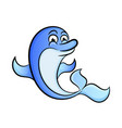 cute dolphin - flat design vector image