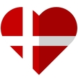 Denmark flat heart flag vector image vector image