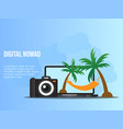 digital nomad concept design template vector image vector image