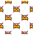 do not iron pattern flat vector image vector image