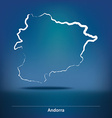 Doodle Map of Andorra vector image vector image