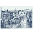Drawing of Italy cityscape - Rome vector image vector image