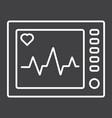 ecg machine line icon medicine vector image vector image