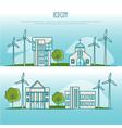 ecology city landscapes alternative energy vector image vector image