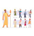ethnic groups funny people in different vector image