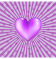 glassy violet heart vector image vector image