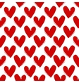 Hand-drawn painted red hearts seamless pattern vector image