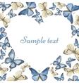 Heart from watercolor butterflies vector image
