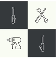 Icons of building and fixing tools vector image