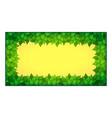 inner rectangle leaves frame vector image vector image