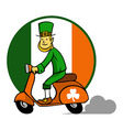 Leprechaun And Scooter vector image