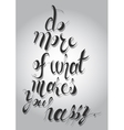 lettering White letters written with a vector image vector image