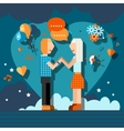 Loving couple chat vector image