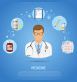 medical concept with doctor vector image vector image