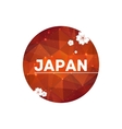 Modern red round cherry blossom japan simbolic vector image
