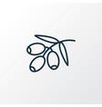 olive branch icon line symbol premium quality vector image