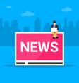 online breaking news concept vector image vector image