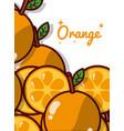 orange fruit juicy sweet poster vector image vector image
