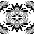 ornamental black and white arabesque seamless vector image vector image