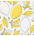 Outline seamless pattern with hand drawn lemon vector image vector image