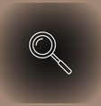 outline search icon on blackdark gray and beige vector image vector image