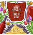 poster for passover holiday vector image vector image