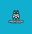 professor gaming logo vector image vector image