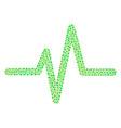 pulse mosaic of small circles vector image vector image
