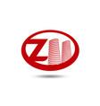real estate logo template letter z logo vector image vector image