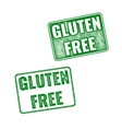 Realistic Gluten Free grunge rubber stamp on white vector image vector image