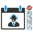 Reception Operator Calendar Day Icon With vector image vector image