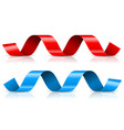 red ribbons streamers vector image