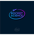 rocket science logo gradient emblem vector image