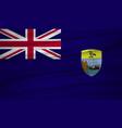 saint helena flag flag of saint helena blowig in vector image