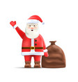 santa claus with sack isolated on background vector image